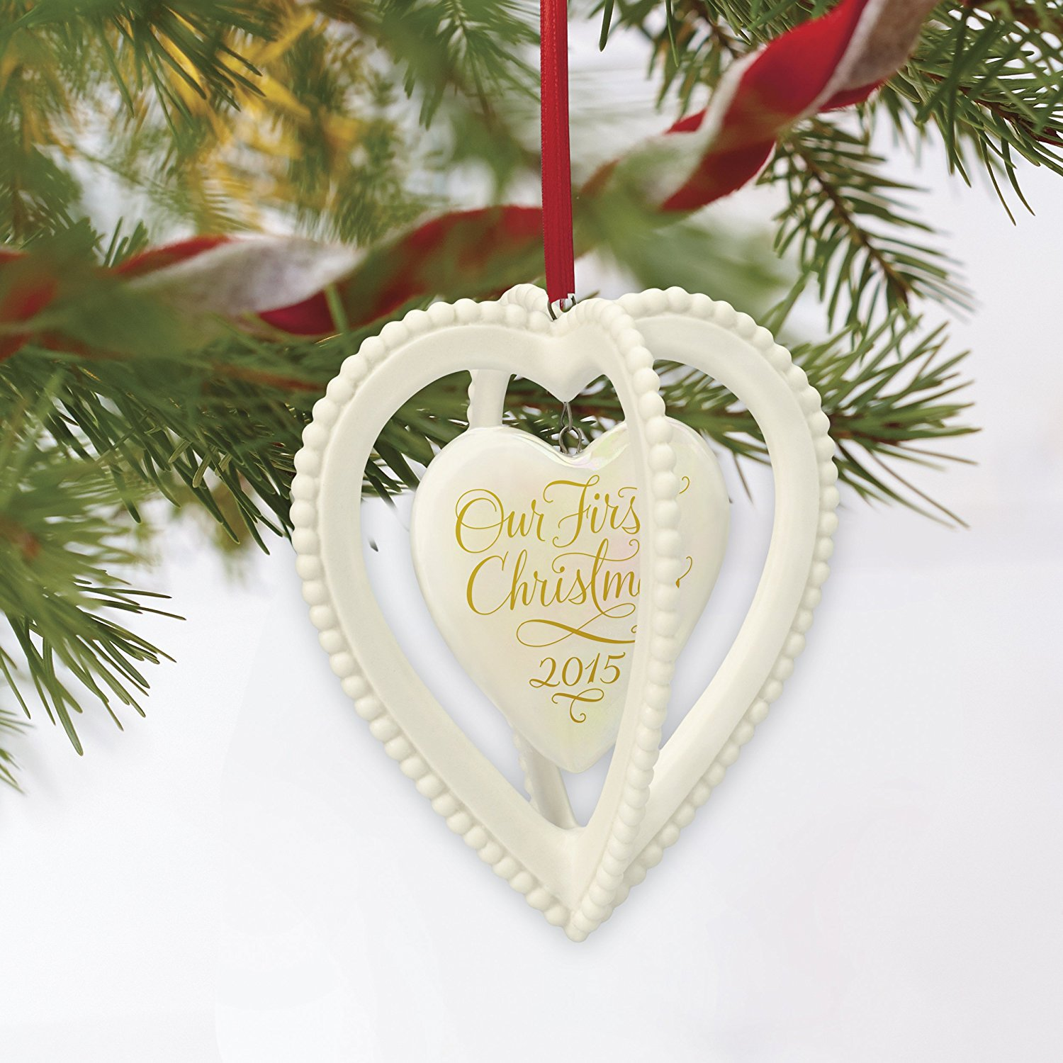 Hallmark Keepsake Ornament: Our First Christmas Together Two Hearts