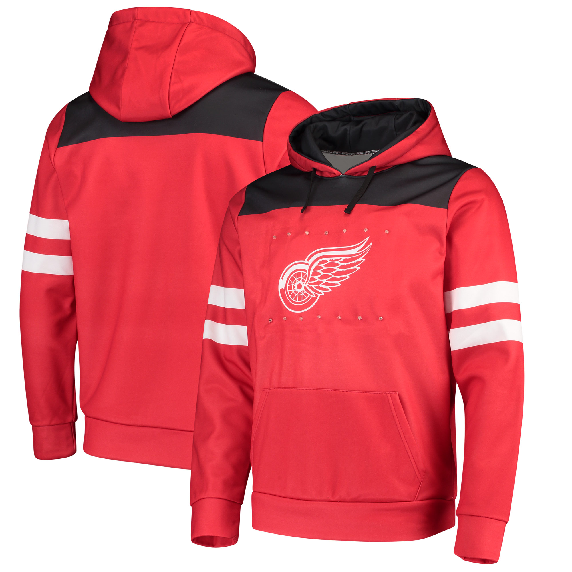 Detroit Red Wings Light Up Pullover Hoodie - Red