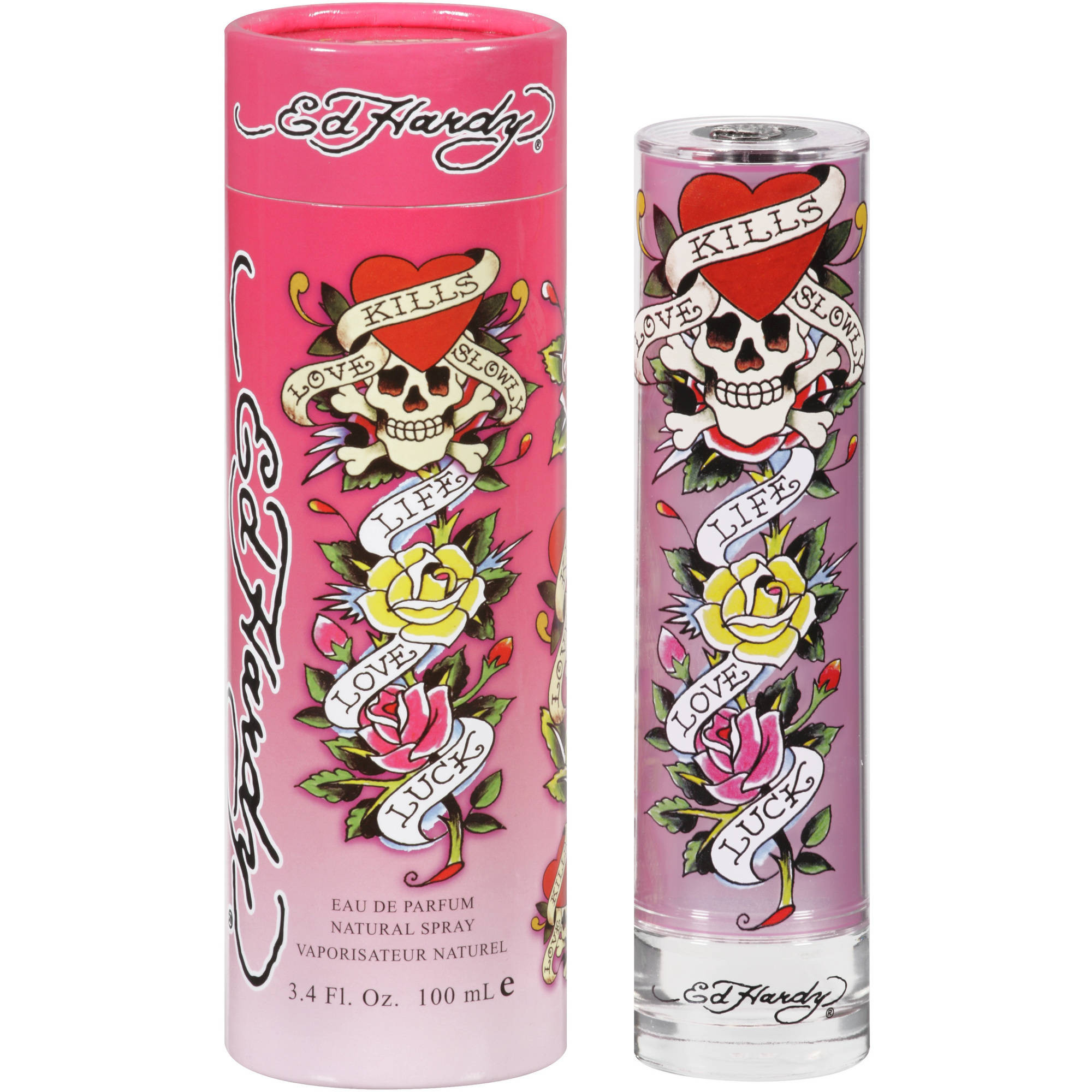 Ed Hardy Eau de Parfum Spray for Women, 3.4 fl oz