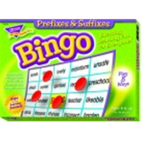 Trend Enterprises Prefixes & Suffixes Bingo - Prefix Game