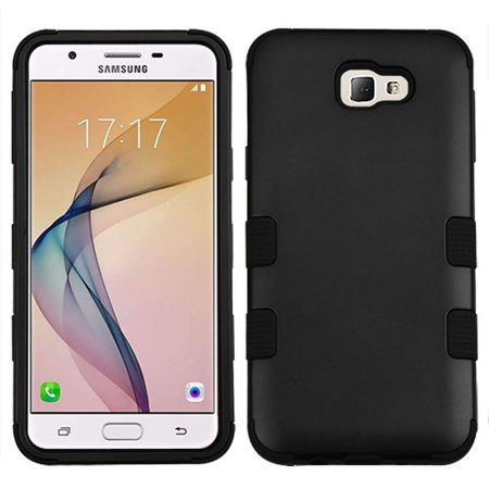 cheap for discount 901bd 5132e Insten TUFF Hybrid Dual Layer Protective Case For Samsung Galaxy J5 Prime /  On5 (2016) - Black (+ USB Cable)