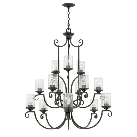 Hinkley Lighting 4019 Cl Casa 15 Light 42 Wide Chandelier With Seedy Gl Shades