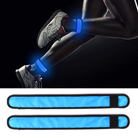 Personalized Glow In The Dark Wristbands (2 Pack LED Slap Armband Lights Glow In The Dark Wrist Band Bracelet for Running Jogging Walking Cycling Sports, 4 Modes (Always Bright/Quick Flashing/Slow Flashing/Off),)
