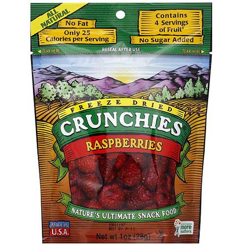 Crunchies Freeze Dried Raspberries, 1 oz (Pack of 6)