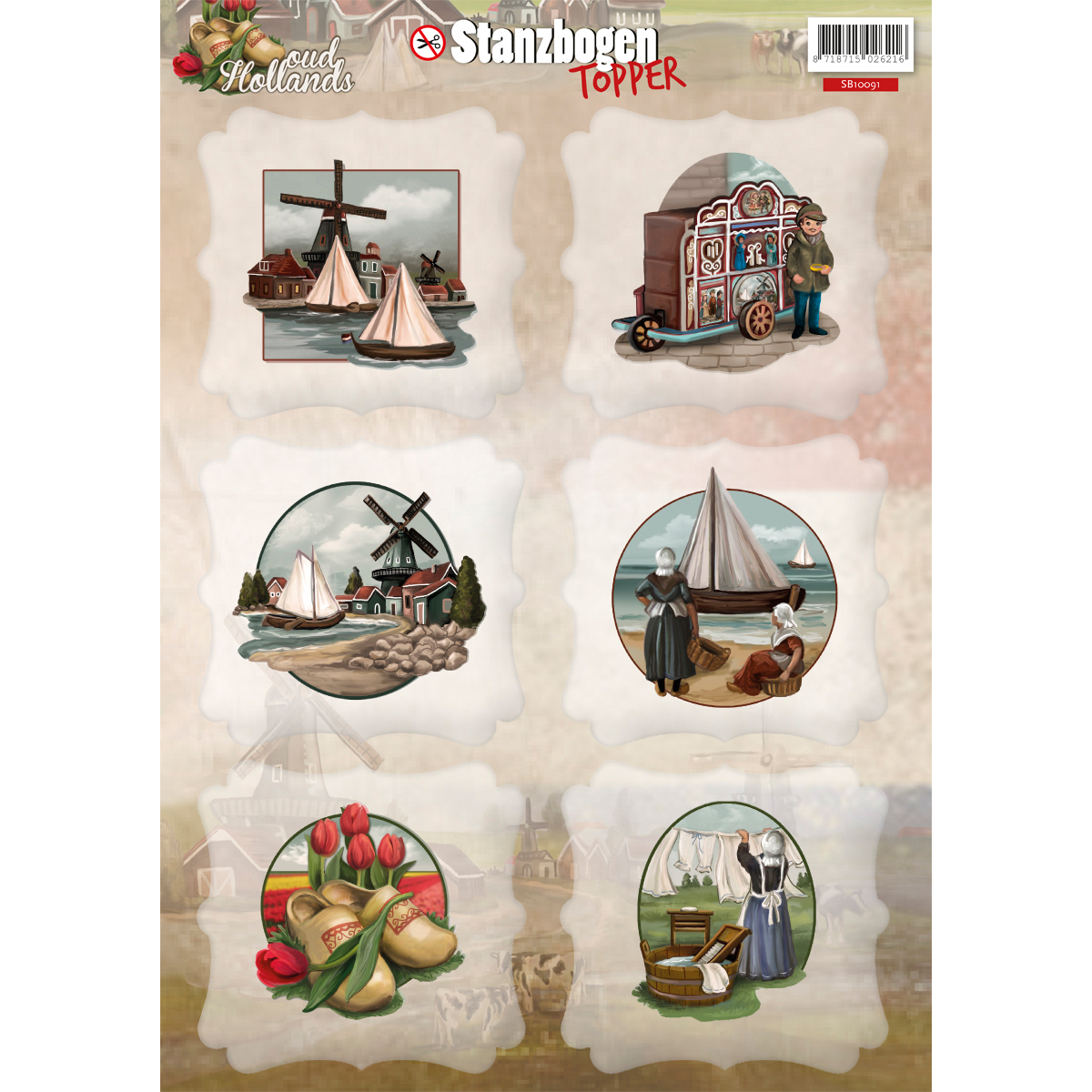 Find It Trading Amy Design Punchout Sheet-Oud Hollands