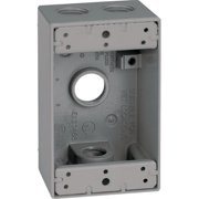 Sigma 14251 1 Gang Gray Weatherproof Outlet Box