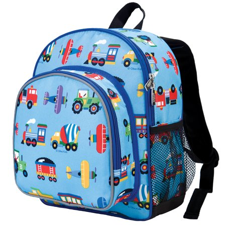 Olive Kids Trains, Planes & Trucks 12 Inch Backpack