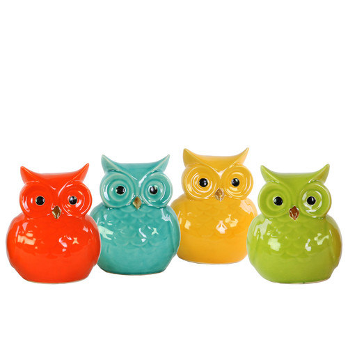 Urban Trends Ceramic Bird Figurine (Set of 4)