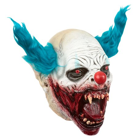 Adult Clown Vampire Scary Latex Mask - Latex Clown
