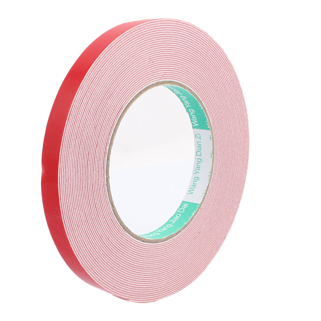 10M 12mm x 1mm Double-side Adhesive Shockproof Sponge EVA Tape Red White
