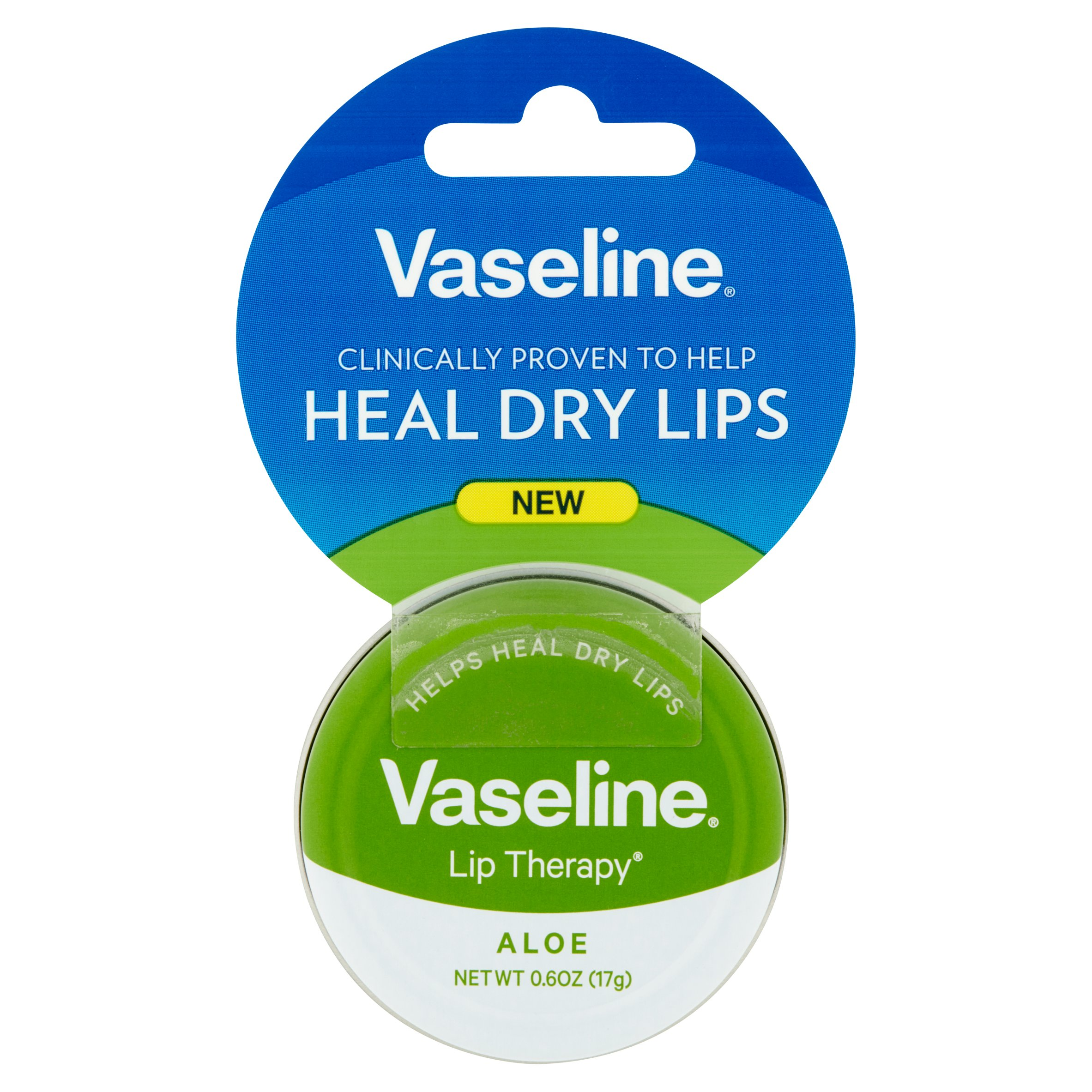 Vaseline Lip Therapy Lip Balm Tin Aloe Vera 0.6 oz