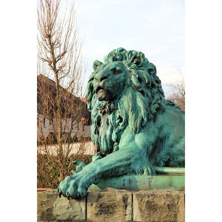 - LAMINATED POSTER Animal Monument Paw Lion Sculpture Poster Print 24 x 36