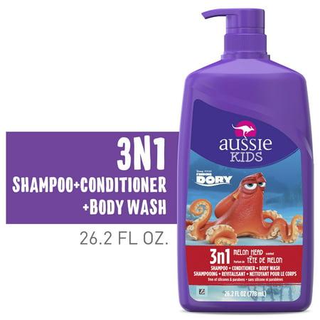 Aussie Kids Melon Head 3 in 1 Shampoo, Conditioner & Body Wash, 26.2 Fl Oz