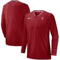 Stanford Cardinal Nike 2018 Coaches Sideline Performance Quarter-Zip Jacket - Heathered Cardinal