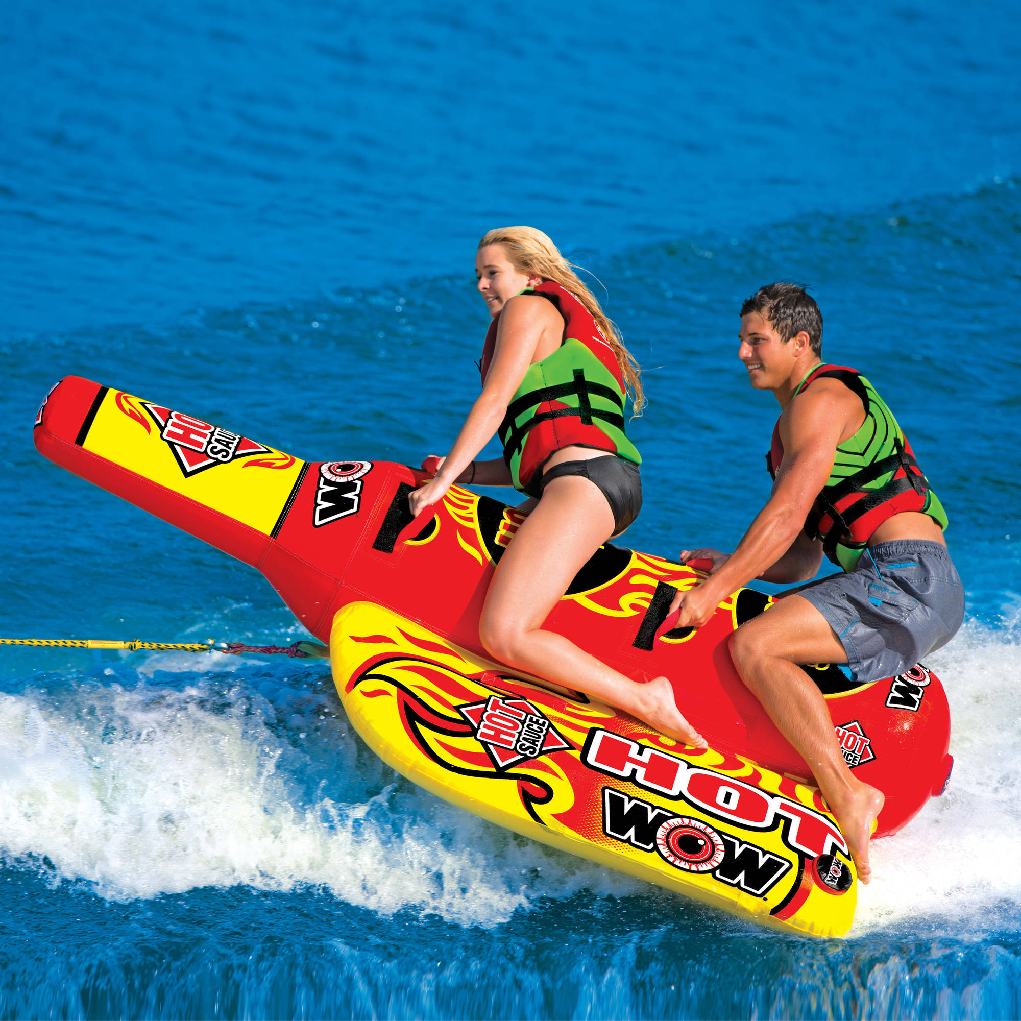 1-2 Person Hot Sauce Towable with Custom-Shaped Pontoons