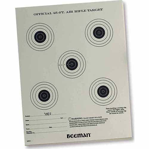 Official 25Ft Airgun Paper Targets - (24 Pack)