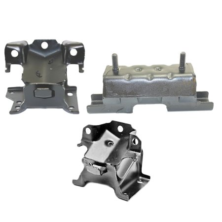 CF Advance For 01-10 Chevrolet Silverado GMC Sierra 2500HD 3500 3500HD 6.6L Engine Motor and Transmission Mount Set 3PCS 2001 2002 2003 2004 2005 2006 2007 2008 2009 2010 5340 5102