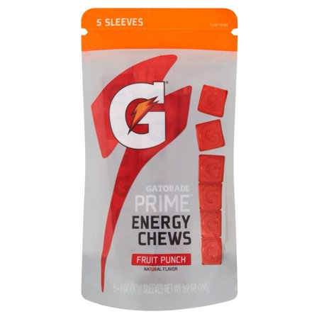 Gatorade G ® Series® Prime® Energy Chews Fruit Punch 5-1 onces. Manches