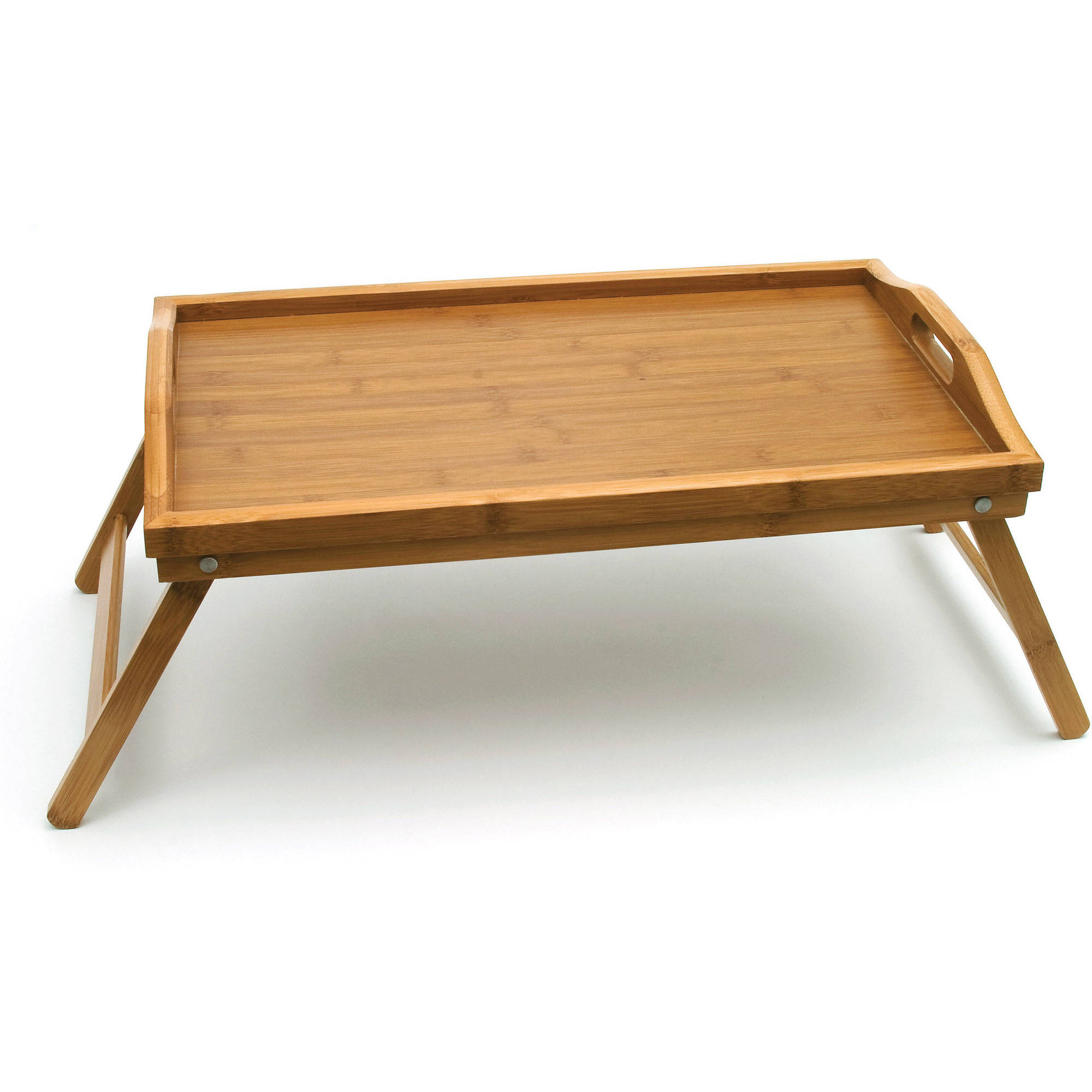 Bamboo Bed Tray With Folding Legs   Walmart.com