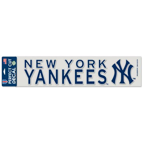 "New York Yankees WinCraft 4"" x 17"" Die Cut Decal - Navy - No Size"