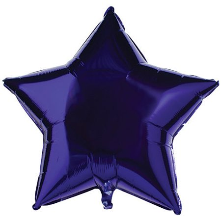 Qualatex 36 Inch Star Plain Foil Balloon - Quartz Purple - Plain Pinata