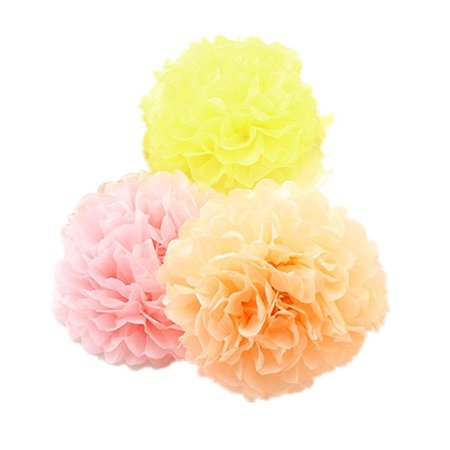 9pcs mixed 3 sizes pink orange yellow pom poms flowerderker fiesta 9pcs mixed 3 sizes pink orange yellow pom poms flowerderker fiesta pom poms paper mightylinksfo