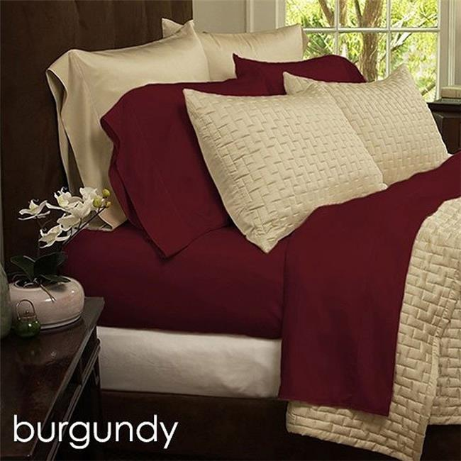 Exceptional Luxury Home LH 1800BF 4PC BUR Q Queen Size Bamboo Fiber 1800