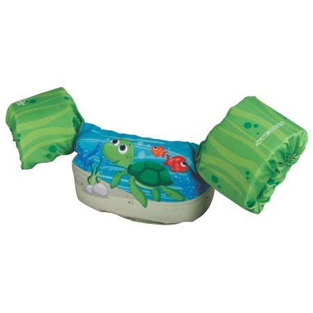 Non Puddle Light - Stearns Puddle Jumper Bahama Series Deluxe Kids Life Jacket Vest, Green Turtle