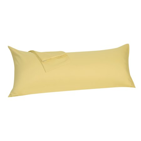 - Body Pillowcase Pillow Case Cover with Zipper Soft Microfiber Gold 20x54