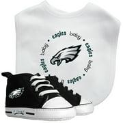 NFL Philadelphia Eagles Bib & Prewalker Baby Gift Set