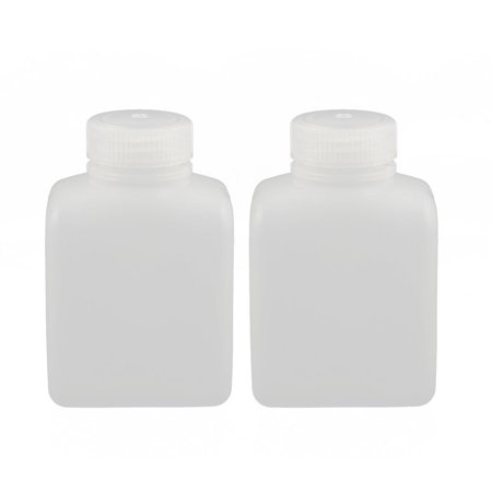 2Pcs 250Ml Rectangle Chemical Sample Reagent Bottle Sealling Food Canister