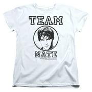 Gossip Girl/Team Nate   S/S Women's Tee   White     Wbt107