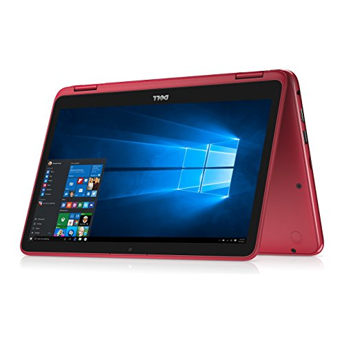"Dell - Inspiron 2-in-1 11.6"" Touch-Screen Laptop - Intel Pentium - 4GB Memory - 500GB HD - Red"