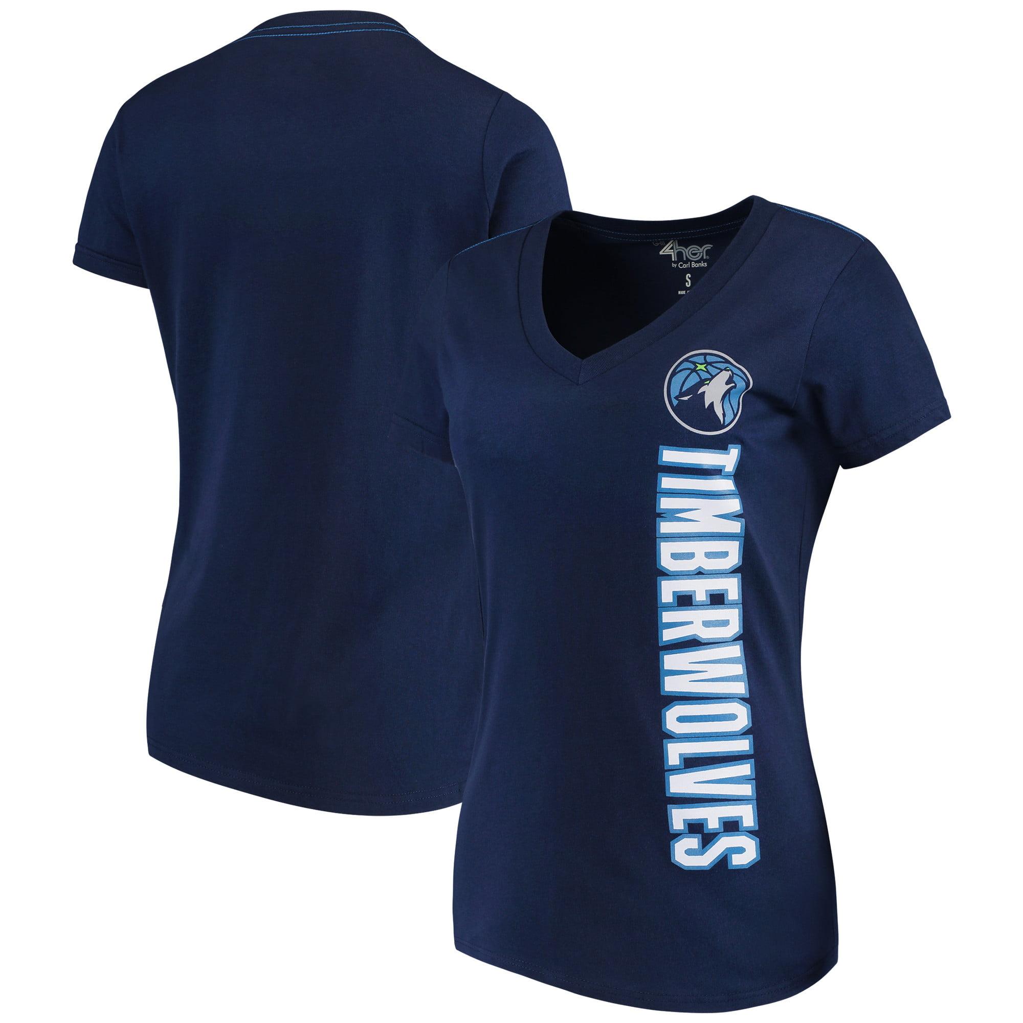 Minnesota Timberwolves G-III 4Her by Carl Banks Women's Asterisk V-Neck T-Shirt - Navy