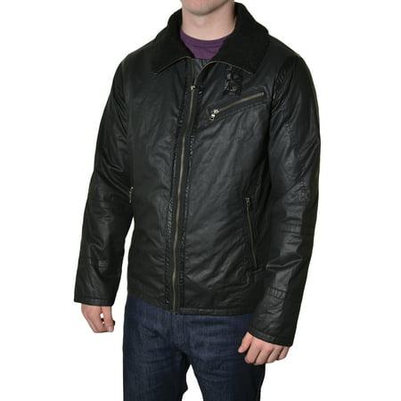 Vertical Comstock Mens Waterproof Wax Cotton Motorcycle Jacket (Waxed Cotton Coats)