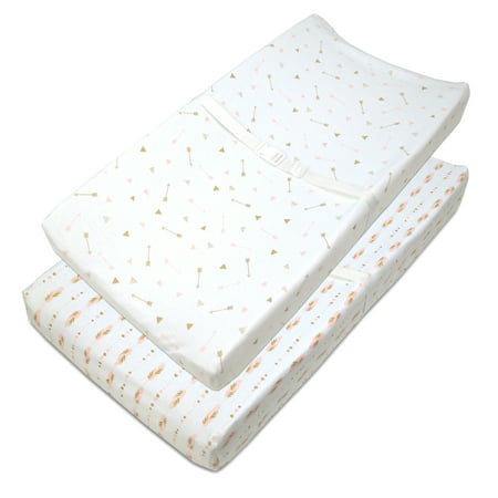 American Baby Company Cotton Jersey Fitted Contoured Changing - Fitted table pads