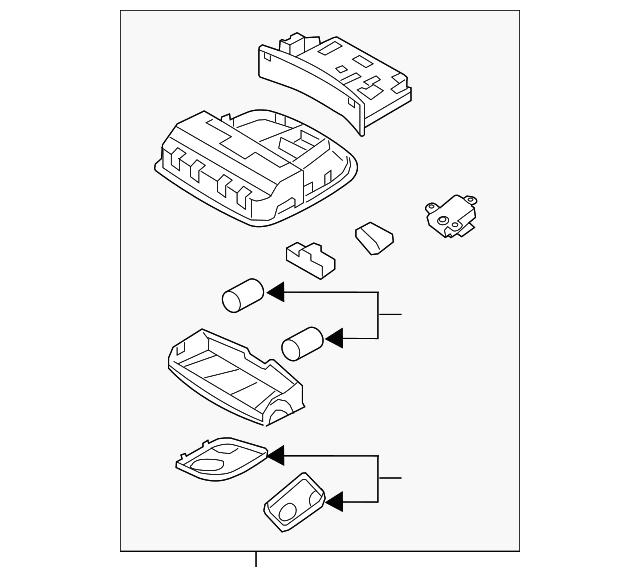 Genuine Hyundai 84510-2H550-9P Glove Box Housing