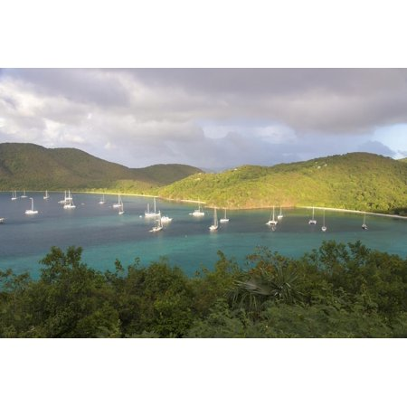 Usvi, St John. Maho Bay Popular Mooring Location and Snorkeling Site Print Wall Art By Trish (Best Place To Snorkel In St Thomas)