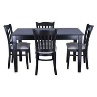 Safsil Seating 5 Piece Hybrid Dining Set