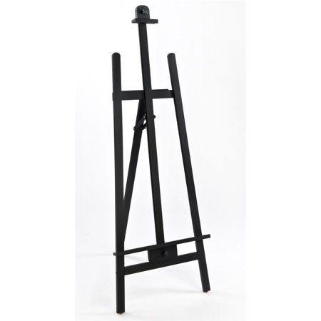Adjustable Black Finish Wood Studio Easel, Free-Standing, with Non-Skid Rubber Feet (TBEASBK01)](Wood Easel)