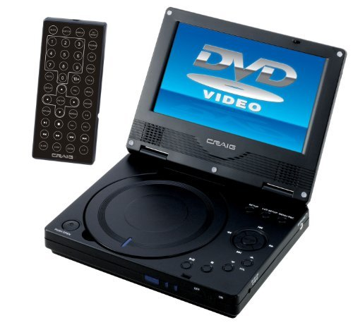 "Craig Ctf716 Portable Dvd Player - 7"" Display - Cd-rw, Dvd-r - Jpeg - Dvd Video - Cd-da - 2 Hour (ctft716)"