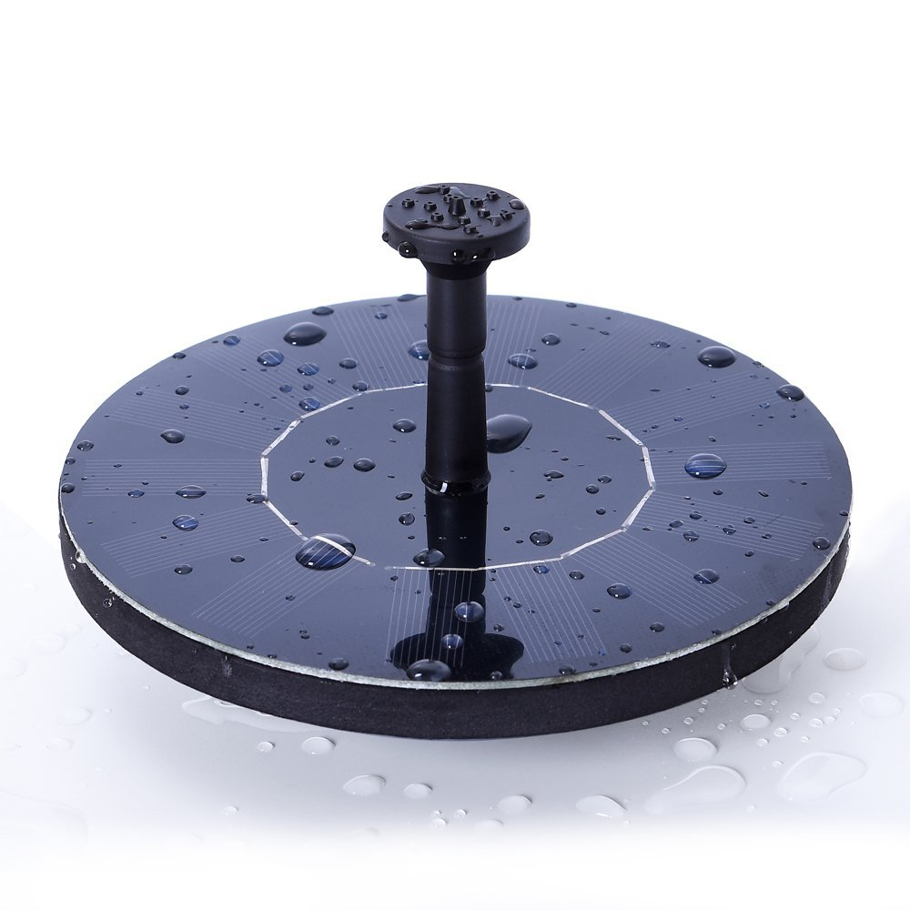 Ankway Solar Bird Bath Fountain, 1.4W Solar Panel Water Floating Fountain  Pump Kit For