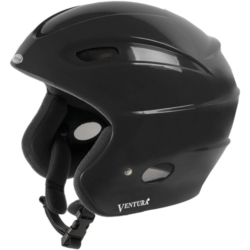Ventura Black Skiing Snowboarding Racing Star II Helmet by Cycle Force Group