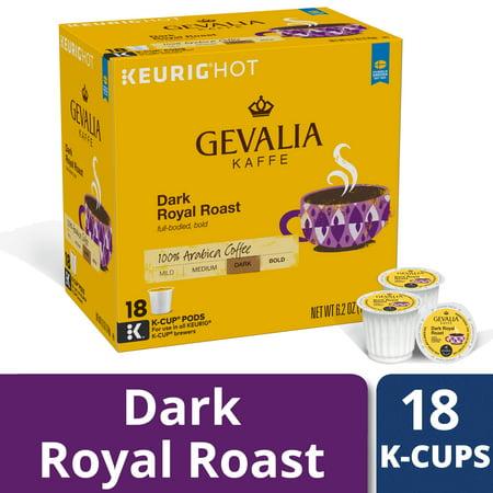 Gevalia Dark Royal Roast Coffee K Cup Coffee Pods, Caffeinated, 18 ct - 6.2 oz