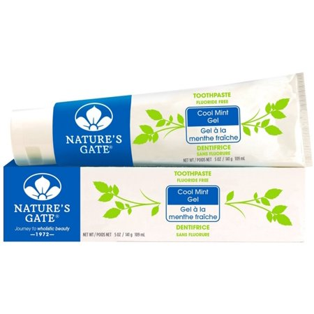 Nature's Gate Fluoride Free Gel Toothpaste, Cool Mint 5 oz (Pack of 6)