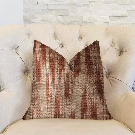 Plutus PBRA2300-2030-DP Stormy Pine Luxury Double Sided Throw Pillow, Orange & Beige - Queen - image 1 of 3