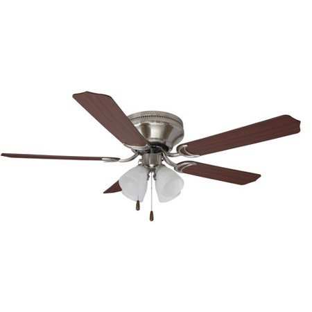 Mainstays 52 ceiling fan with light kit satin nickel 17804 mainstays 52 ceiling fan with light kit satin nickel 17804 aloadofball Images