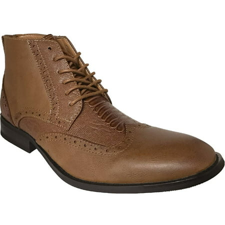 AMERICAN SHOE FACTORY Exotic Look Leather Lined Wingtip Chukka,