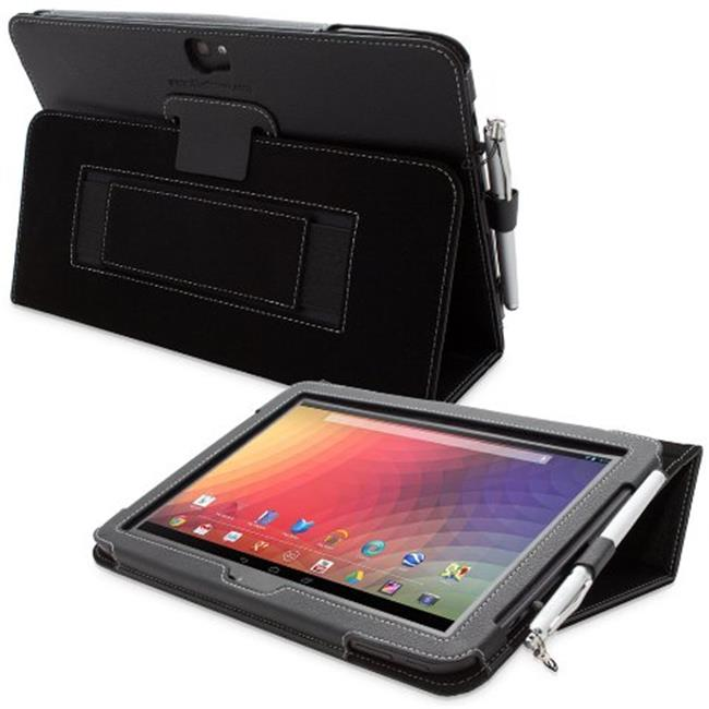 Snugg B00ANLX44U Google Nexus 10 PU Leather Case Cover and Flip Stand, Black