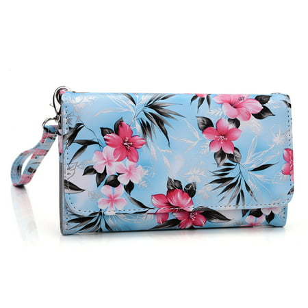 - Wristlet wallet with cell phone holder